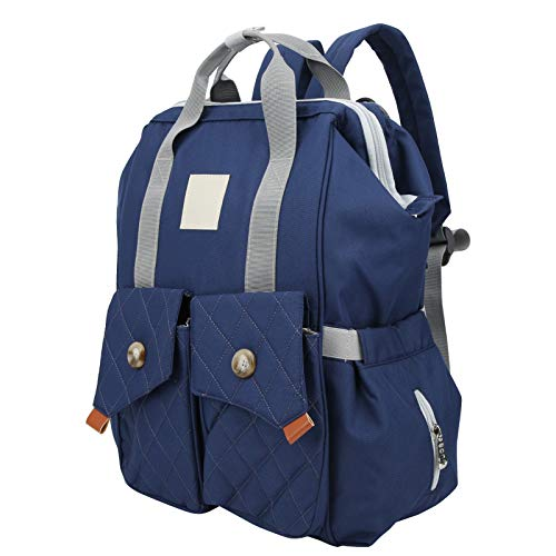 Bolsa organizadora para mamá, bolsas para pañales para bebés, diseño de rejilla múltiple Cómodo conveniente para almacenamiento Mom(Starry blue)