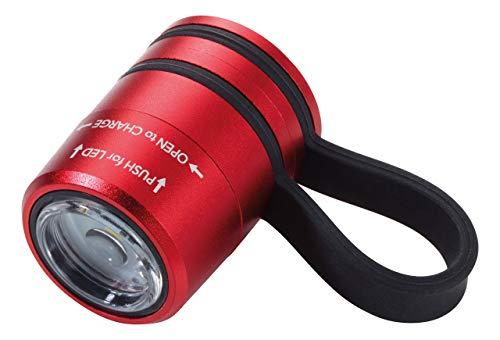 TROIKA ECO RUN – TOR90/RD – Taschenlampe – ideal beim Joggen – Sport- und Sicherheitslicht – mit Magnet zur Befestigung, weißes LED-Licht – 2 Lichtstärken + Blinklicht – TROIKA-Original