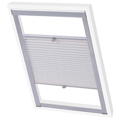 vidaXL Store plissé Velux Blanc M04/304 Store de fenêtre Protection Solaire