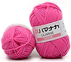Double Knitting Wool 4 Shares Combed Milk Cotton Yarn Comfortable Wool Blended Yarn Apparel Sewing Yarn Hand Knitting Scar...