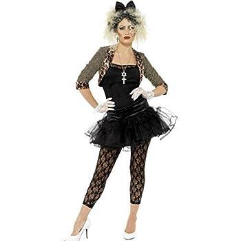 Mujer Madonna 80s 1980s Smiffys Disfraz - Todas Las Tallas - Negro ...
