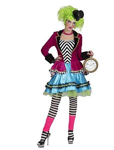 Funny Fashion Verrückter Hutmacher Kostüm für Damen - Gr. 44/46