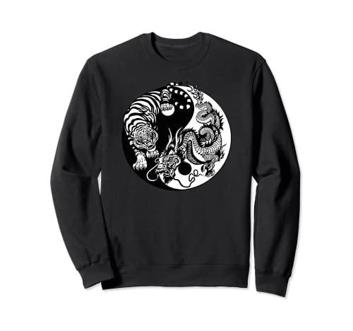 Yin Yang Drago Tigre Felpa