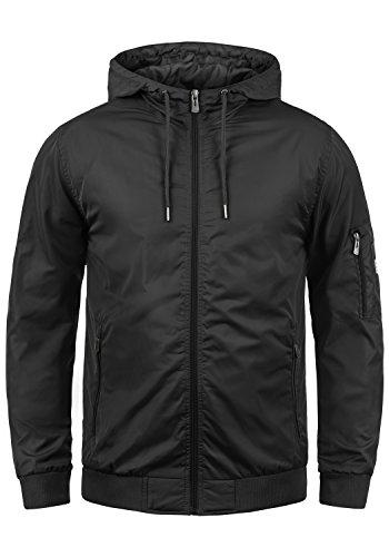 Blend Razy Herren Übergangsjacke Herrenjacke Jacke mit Kapuze, Größe:L, Farbe:Black (70155)