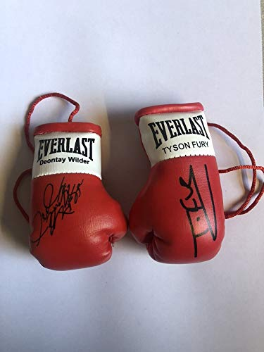 Unbekannt Autogramm Mini Boxhandschuhe Tyson Fury Versus Deontay Wilder