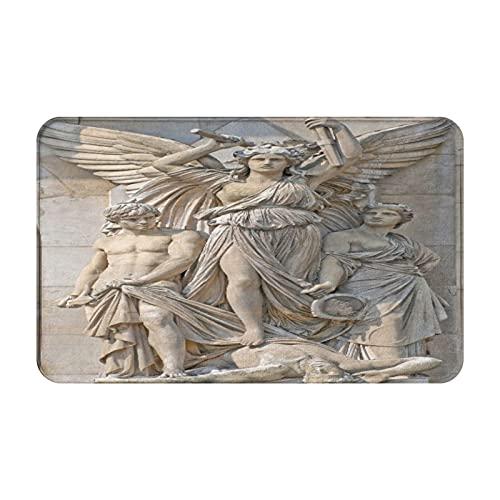 JISMUCI Felpudo Entrada Casa Rectangular Composición de esculturas en la fachada de la Ópera Garnier, París Impermeable Antideslizante Lavable Alfombra para Interior y Exterior 50x80cm