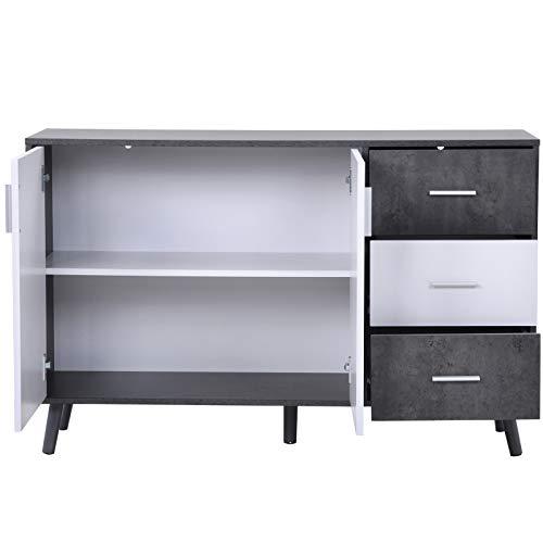 Kommode Sideboard, Schrank Mehrzweckschrank Standschrank, L120*B35*H76 cm