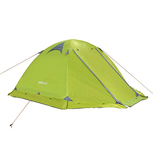 WoneNice Professional Camping Tent, 2/3 Person Family Double Layer Waterproof 3/4 Season Outdoor Dome Tent with Removable Rain Fly (Green)