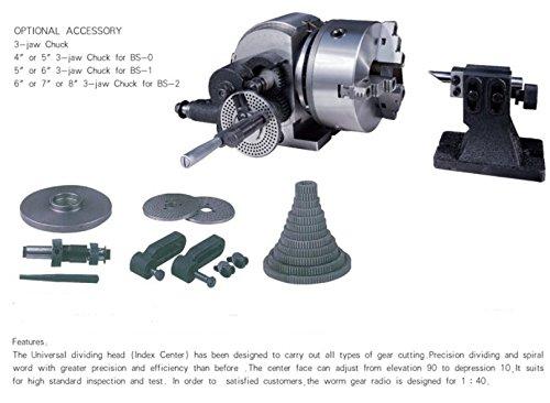 MXBAOHENG BS-2 Semi-Universal Dividir Cabeza fresadora Dividir Cabeza Rotary Cuadro Vertical y Horizontal Placa de indexación