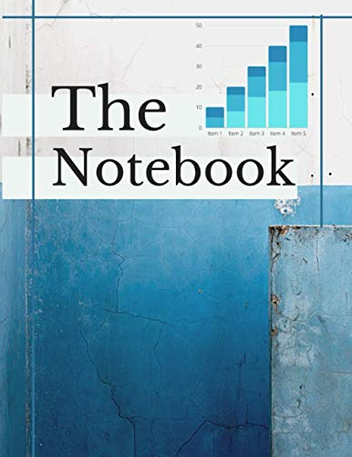 The notebook: designer notebook 8.5 by 12 inches .