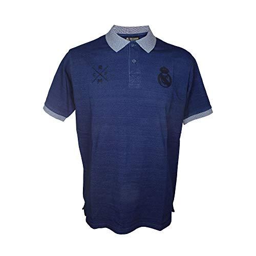 Real Madrid FC Polo Oficial Azul Marino/Gris (L)