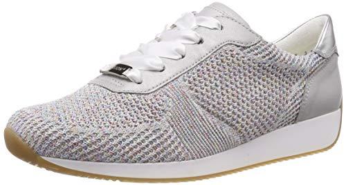 ara Damen LISSABON 1224027 Sneaker, Grau (Candy-Weiss, Sasso/Silber 21), 38 EU(5 UK)