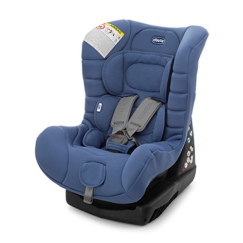 Chicco Eletta Comfort - Silla de coche, grupo 0+/1 (0-18 kg), 7,8 kg, color azul