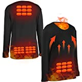 Wchiuoe Heated Pants Unisex Electric Heating Clothes USB Heating Thermal Underwear for Winter(L)