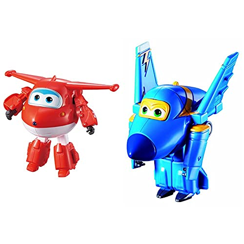 Auldeytoys YW710210 Super Wings Transforming Jett Spielzeugfigur & Series 1 YW710030 Transform Spielzeugfigur Jerome