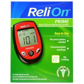 Relion Prime Blood Glucose Monitoring System, Red by Reli On