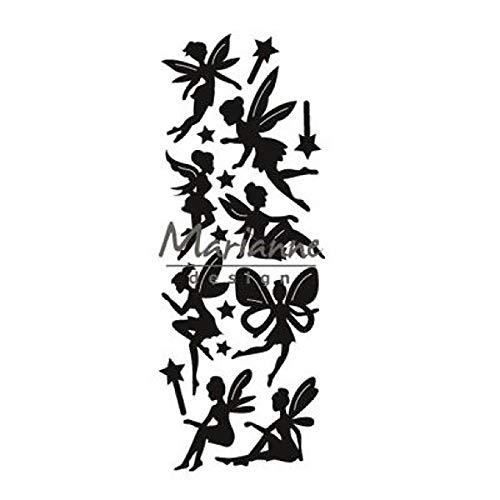Marianne Design Craftables Stanz- und Prägeschablone, Feen-Design, für Bastelprojekte, Argent