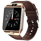 Reloj inteligente Bluetooth con ranura para tarjeta SIM, podómetro, cámara, pantalla táctil, reloj inteligente para smartphones Android HUAWEI, Samsung, HTC, Sony, LG, Google Pixel