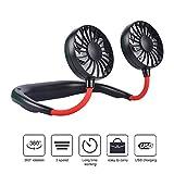 OKA Portable Fan USB Rechargeable Neckband Mini Fan Hands-Free Neckband Personal Fan, Headphone Design...