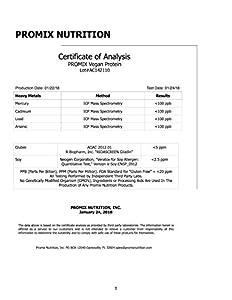 PROMIX Premium Vegan Protein + B12, Organic Complete Protein Plant Based Blend, Gluten-Free, Soy Free, 5lb Bulk #2