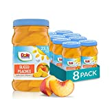 HEALTHY SNACKS: DOLE Jarred Sliced Peaches has five full servings of fruit packed in 100% fruit juice. A convenient snack to eat right out of the jar, our portable plastic resealable jar is a great option for healthy snacking at the office or on-the-...