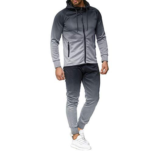 Great Price! Leegor Men 2020 Jogging Tracksuit Sportsuit Sportswear Slim Fit, Hooded Coat Sweat Jack...