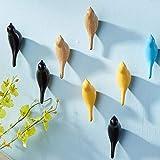 Gancho De Pájaro Abrigo, Colgante De Pared, Multiusos Resina Soporte de Pared Gancho para Perchero Sombrero Toalla Bolsa (Amarillo)