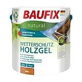 BAUFIX natural Wetterschutz-Holzgel teak, 2.5 Liter, atmungsaktive Ökofarbe aus nachhaltiger Produktenb für außen & innen, vegan, witterungsbestöndig, UV-beständig, für alle Holzarten geeignet