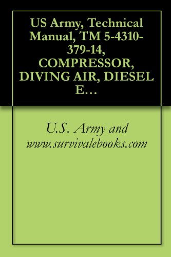 US Army, Technical Manual, TM 5-4310-379-14, COMPRESSOR, DIVING AIR, DIESEL ENGINE DRIVEN 88.5 SCFM, 200 PSI, (MODEL HII-271-5120), (NSN 4310-01-113-8271), ... manauals, special forces (English Edition)