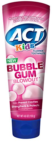 ACT Kids Bubblegum Blowout Toothpaste 4.6 Ounce (Pack of 24) Children's Anticavity Toothpaste with Fluoride for Fresh Breath and Strong Tooth Enamel for Kids, Toddlers