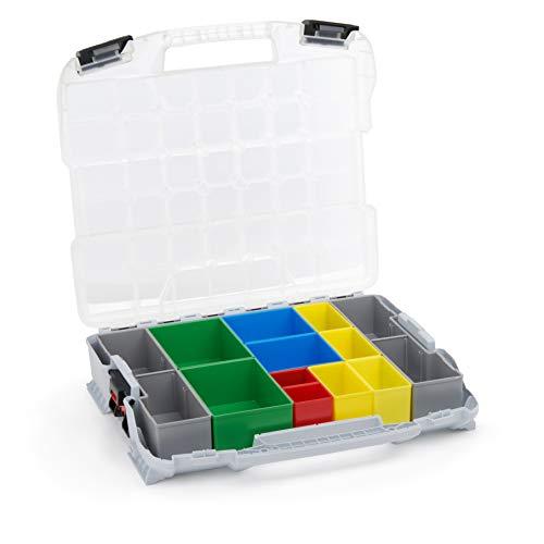 Bosch Sortimo W-BOXX 102 | Sortimentskasten L-Case | Schraubenbox Aufbewahrung mit Deckel | Kleinteilemagazin Alternative