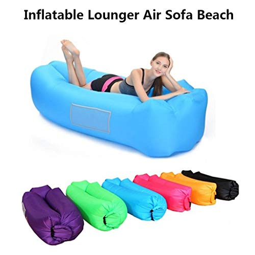 Cegduyi Hutcuo Tumbona hinchable impermeable con bolsa de almacenamiento, sofá de aire perezoso, portátil, impermeable, a prueba de fugas, cama ultraligera para viajes, camping, senderismo, piscina y playa, verde