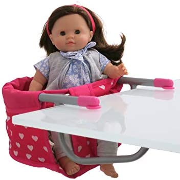Little Rose Collection Doll High Chair Table Treat and Feeding Seat for Dolls Up to 19 Tall product image