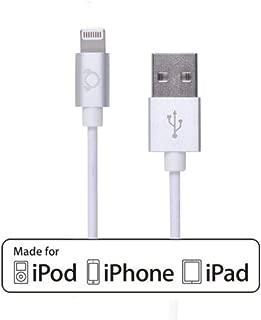 Gear Beast WI069 6-feet Aluminum Lightning Charging Cable for for iPhone 6s / 6s Plus / 6 / 6 Plus / 5 / iPad / iPad Pro /iPad Air / iPad Mini - Silver (Apple Certified)