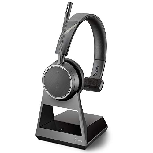 Plantronics Bluetooth-Mono-Headset 'Voyager 4210 UC' USB-A BT-Dongle, SoundGuard-Technologie, Mikrofonarm, Tasten am Headset, Schwarz, One Size