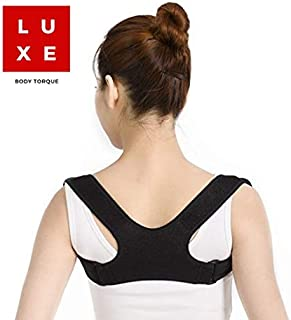 Luxe Back Posture Corrector for Women and Men, Bonus Gift! Upper Back Brace for Clavicle Support, Stand Straight for Great Confidence, Ease Upper Back and Shoulder Pain, Creates Muscle Memory, Use at Home, the Office or for Exercise, Small Size Perfect for Travel, Never Slouch Again with Luxe Body Torque Posture Corrector, Sport, Martial Arts