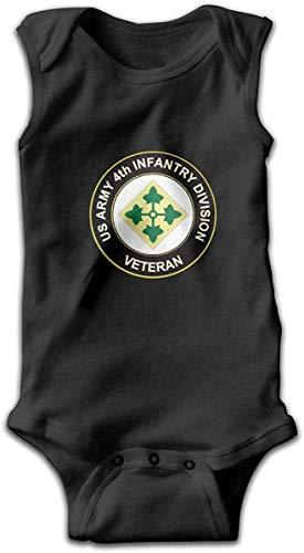 Klotr Ejército de los EE. UU. 4ta División de Infantería Veterano Bebé recién Nacido Body sin Mangas Mamelucos Trajes