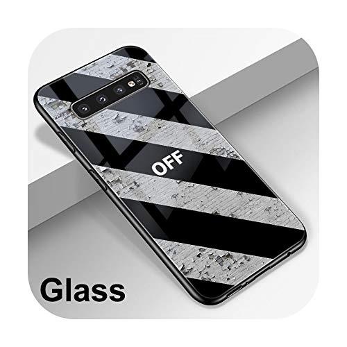 Hopereo Carcasa de cristal de mármol para Samsung Galaxy A51, A50, A71, A70, S20, S10, S9, S8, A31, A41, S10E, A30, A20, Note 20, 10, 9, 8 Lite Plus Ultra-W3464-S10 Plus