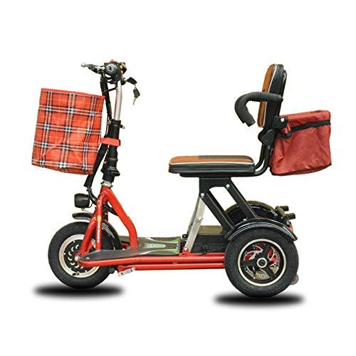 Adulto Ligera Scooter eléctrico/Plegable portátil Ultra-luz Triciclo eléctrico pequeño con una Gran Capacidad de Almacenamiento de Ba DDLS (Color : B)