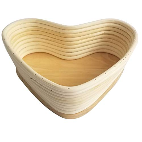 Hemoton Proofing Broodmand Bakken Deeg Broodkom Broodzak Bakken Bakvormen Voor Knapperig Stokbrood Baguette (Hart Kaki 24. 5X22cm)