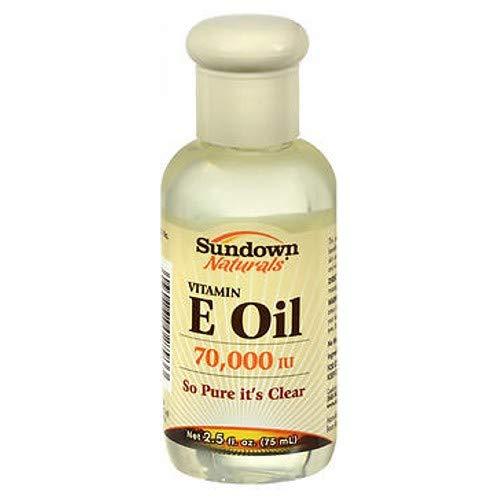 Sundown pure vitamin E oil, 70,000 iu for skin - 2.5 oz