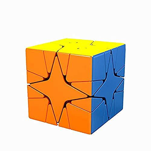 Khosd Mágico Speedcube Puzzle Cubos, Super-Durable Vivos, Rompecabezas Cubos, Stickerless Speed Magic Puzzle Cube, Rompecabezas Cubo Mágico para Niños Y Adultos