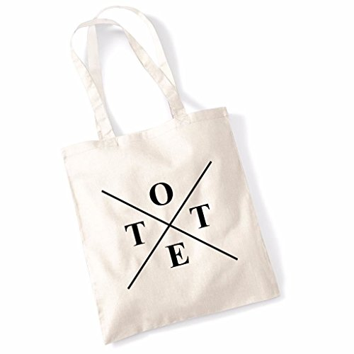Printed Tote Bag Slogan Women's Gift Idea 100% Cotton Tote X Inspirational Quote Funny Beach Accessories Canvas Shoulder Bag - Natural