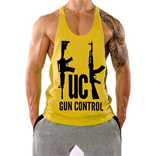 Cabeen Hombre Camiseta de Traint Deportiva Sin Mangas Y-Back Gimnasio Tank Top Culturismo