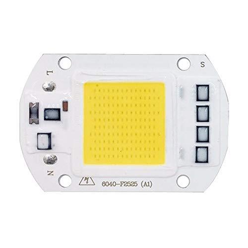 50W rectángulo LED Chip COB, entrada de 220V AC, lámpara del controlador IC integrado inteligente, para proyector de DIY reflector, blanco