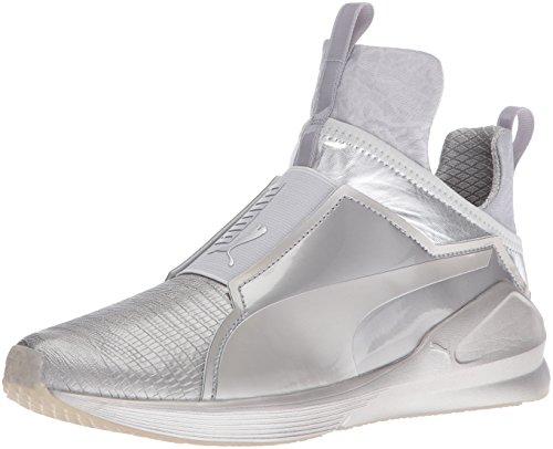 PUMA Women's Fierce Metallic Cross-Trainer Shoe, Black, 6.5 M US