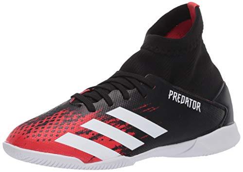 adidas Kids' Predator 20.3 Indoor Soccer Shoe, Core Black/White/Active Red, 6
