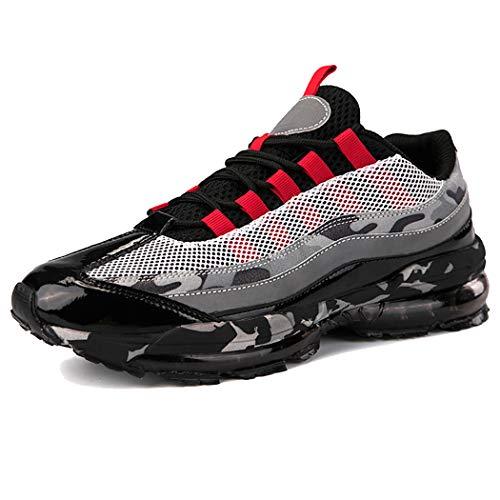 Veluckin Zapatillas de Running para Hombre,Rojo,41EU
