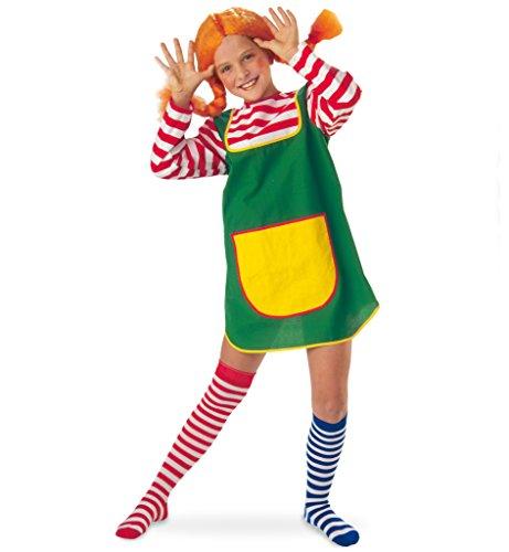 KarnevalsTeufel Kostüm-Set Karlinchen 3-TLG. für Kinder Göre freches Mädchen Räubertochter Zicke Giftzwerg (Set 6)