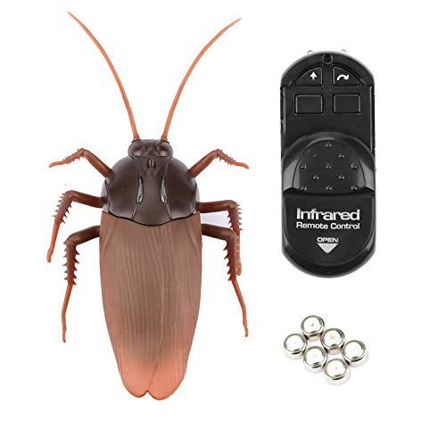 Control remoto por infrarrojos Cucaracha falsa Simulación eléctrica Cucarachas Look Real RC Broma Insectos animales Broma Miedo Truco divertido Bichos para la fiesta Halloween Navidad